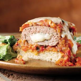 turkey burger stuffed mazzarella