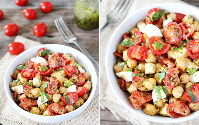 chickpea-pesto-mozzarella-tomato-salad