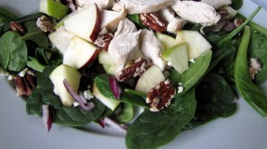 grilled chicken, apple and pecan salad