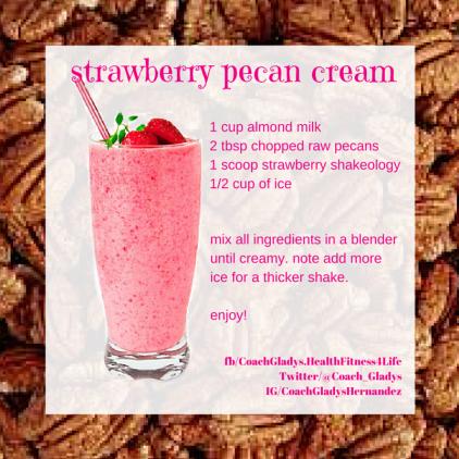 strawberry pecan cream
